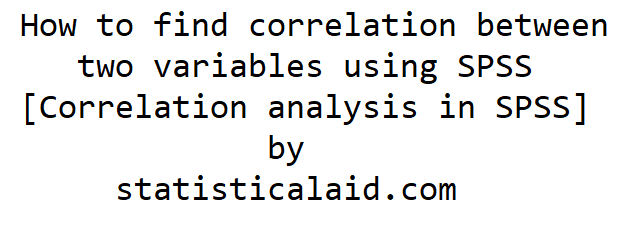 correlation analysis using spss
